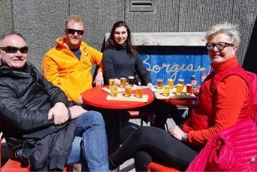 guests on beer tour quebec city