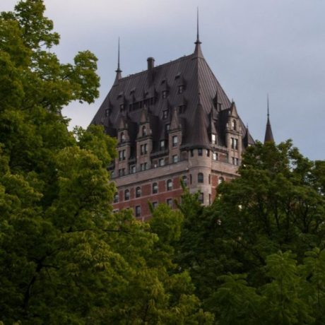 chateau frontenac in summer